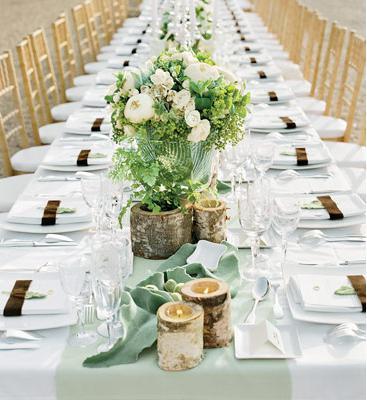 Сервировка свадебного стола-фото